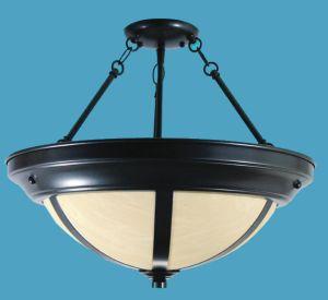 Alabaster pendant lighting loveitlighting semi flush alabaster chandelier bands aloadofball Images