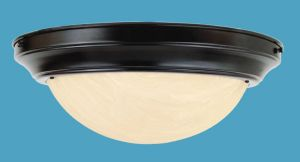 Fax Alabaster Flush Ceiling