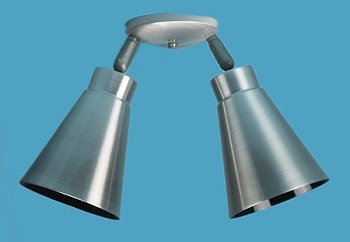 2 Tapered Bullet shades Ceiling Lighting Fixture