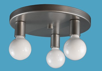 Multi-Light Flush Flush Fixture for G Bulbs