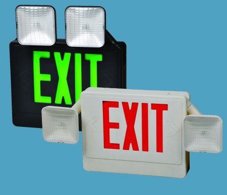 Combo Led Exit Emergency Light with Battery
