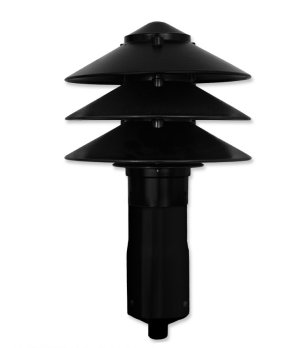 LED Pagoda Large 3 Tier Top, for Garden Stake