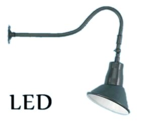 led sign angle shade with swivel gooseneck arm