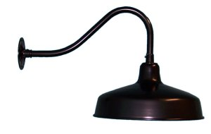 RLM Factory Barn Shade Gooseneck Light,  Short Arm