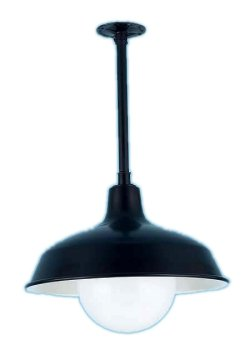 RLM Warehouse with Globe on Stem Pendant Light