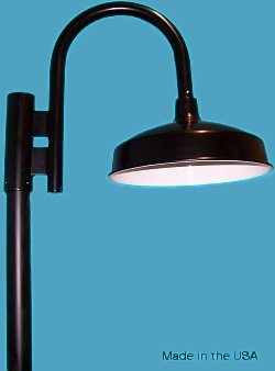 2 diameter arm gooseneck lighting loveitlighting heavy gauge post mount rlm barn gooseneck light aloadofball