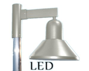 led step shade gooseneck sign light step shade down light wall bracket led down shade straight arm post mount
