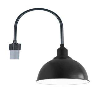 Gooseneck post mount by love it lighting loveitlighting dome hood on u shape post light aloadofball Images