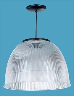 Acrylic Prismatic/Ribbed Hanging Dome