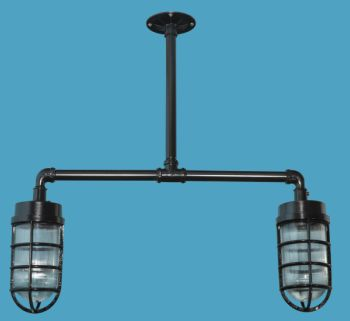 Industrial farmhouse jelly jar pendant lighting loveitlighting 2 light industrial jelly jar pendant mozeypictures Gallery