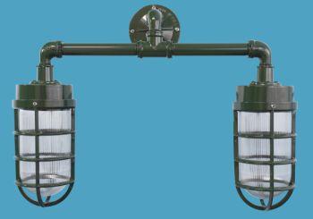 2 light industrial jelly jar wall bracket www for Jellyfish light fixture