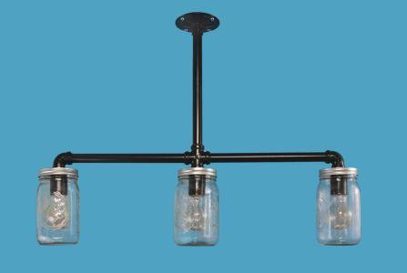Industrial farmhouse jelly jar pendant lighting loveitlighting 3 light mason jar penant aloadofball Gallery