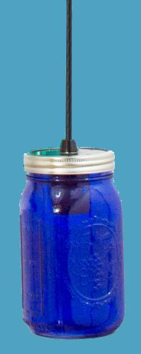 Colorized mason jars lighting love it lighting blue mason jar pendant light on cord aloadofball Image collections