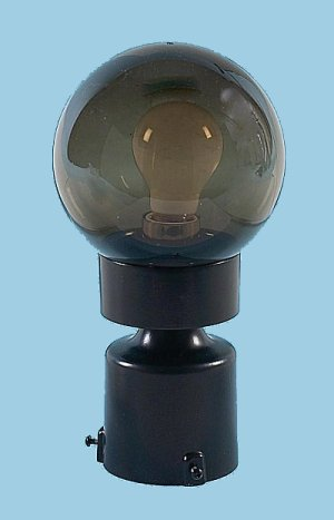 Smoke Threaded Globe Post Light