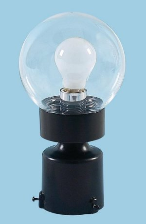 Clear Threaded Globe Post Light
