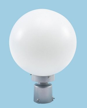 Acrylic Necked Globe Post Light