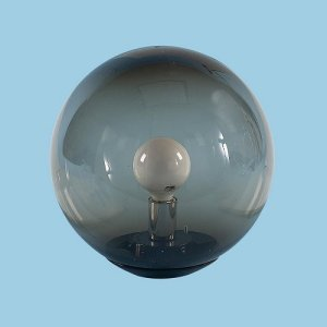 Smoke Acrylic Globe Post Light