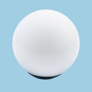 Led acrylic white globe post light loveitlighting led acrylic white globe post light aloadofball Gallery