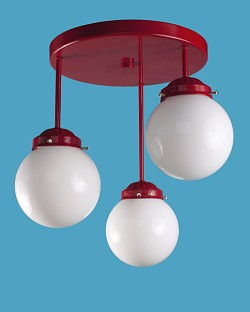 3 Globe Light Ceiling Fixture