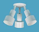 3 Step shades ceiling mount with swivels