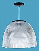 Acrylic Prismatic Ribbed Hanging Dome
