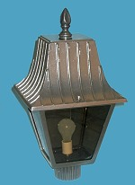 250 Watts HPS 4 Panel Cast Aluminum lantern Post Light