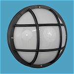 Nautical Round Ceiling & Wall Sconce with Cross Ba