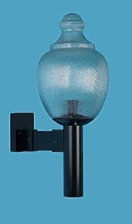 Polyethylene Acorn Street Light on Wall Bracket